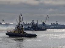 Bateaux de la Marine militaires Photographie stock libre de droits
