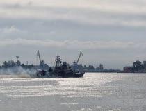 Bateaux de la Marine militaires Images libres de droits