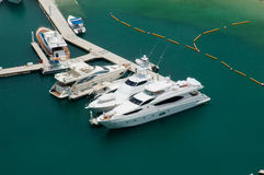 Bateaux de marina de Dubaï Photos stock