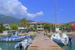 Bateaux de marina de Nydri, Leucade, Grèce image stock