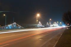 Bateaux de militaires à Riga Photo stock