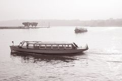 Bateaux de mouette sur le Lac Léman Photos libres de droits
