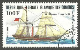 Bateaux de navigation, William Fawcett Photographie stock libre de droits