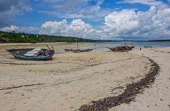 Bateaux de pêche à marée basse Photographie stock libre de droits