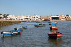 Bateaux de pêche à Rabat, Maroc Photos libres de droits