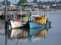 Bateaux de pêche Photo libre de droits