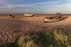 Bateaux de pêche abandonnés Photographie stock libre de droits