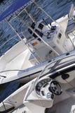 Bateaux de pêche amarrés Photos stock