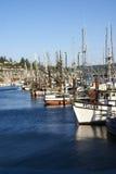 Bateaux de pêche au point d'attache photographie stock