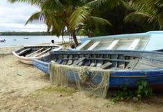 Bateaux de pêche au Tamarin Photos libres de droits