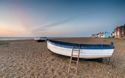 Bateaux de pêche chez Aldeburgh Image libre de droits