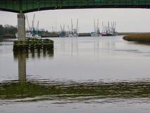 Bateaux de pêche chez Darien Images libres de droits
