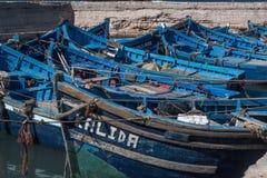 Bateaux de pêche d'Essaouira Photo stock