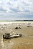 Bateaux de pêche dans Cancale, Fran Photo libre de droits