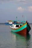 Bateaux de pêche de Belitung Image libre de droits