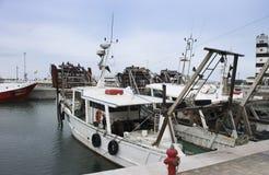 Bateaux de pêche de palourde photographie stock libre de droits