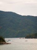 Bateaux de pêche de Paraty Photos libres de droits