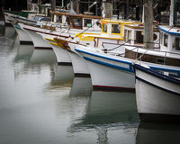 Bateaux de pêche de quai Images libres de droits