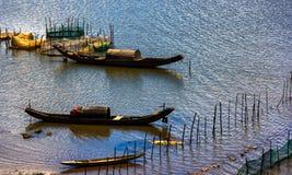 Bateaux de pêche des pêcheurs Images libres de droits