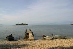Bateaux de pêche en bois Image libre de droits