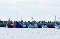Bateaux de pêche en Iles de la Madeleine Images libres de droits