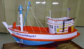 Bateaux de pêche en Thaïlande Photos stock