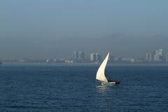 Bateaux de pêche et bateaux à voile dans l'Océan Indien Image stock