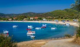 Bateaux de pêche grecs Photos libres de droits