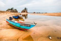 Bateaux de pêche malais Photos stock