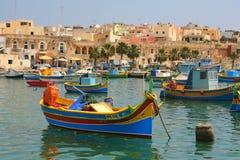 Bateaux de pêche maltais Image stock
