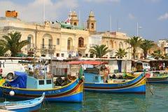 Bateaux de pêche maltais Image libre de droits