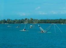 Bateaux de pêche nets Photographie stock