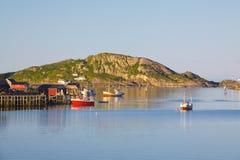 Bateaux de pêche norvégiens Photographie stock libre de droits