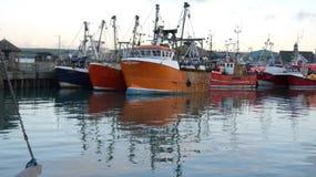 Bateaux de pêche, Padstow, les Cornouailles, R-U Images libres de droits