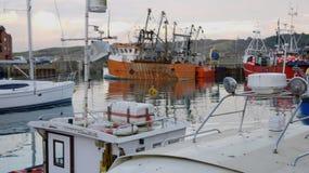 Bateaux de pêche, Padstow, les Cornouailles, R-U Photo stock