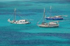 Bateaux de pêche sur les Bahamas Photos libres de droits