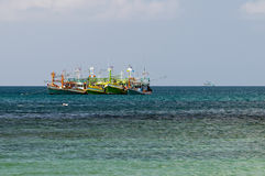 Bateaux de pêche thaïlandais Photo stock