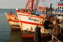 Bateaux de pêche thaïs Images libres de droits