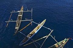 Bateaux de pêche traditionnels Images libres de droits