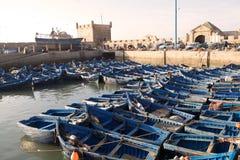 Bateaux de pêche traditionnels Photos stock
