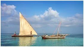 Bateaux de pêche traditionnels Images stock