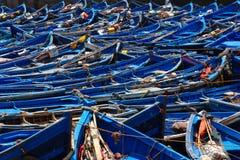 Bateaux de pêche traditionnels dans Essaouria, Maroc photos libres de droits