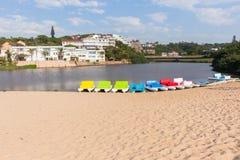 Bateaux de palette de lagune de plage Ramsgate Image stock