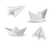 Bateaux de papier et avions de papier Images stock