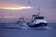 Bateaux de pêche Photos libres de droits