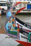 Bateaux de pêche d'Aveiro Images libres de droits