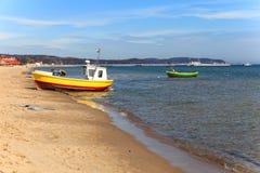 Bateaux de pêche dans Sopot Photographie stock