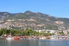 Bateaux de pirate dans Alanya photos libres de droits