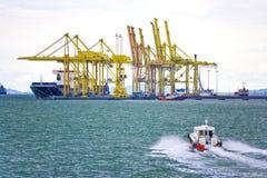 bateaux de port Photos stock