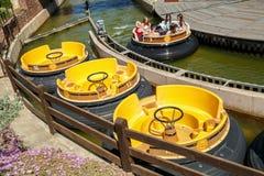 Bateaux de rapide de Grand Canyon d'attraction Parc PortAventura, Salou, Espagne Images libres de droits
